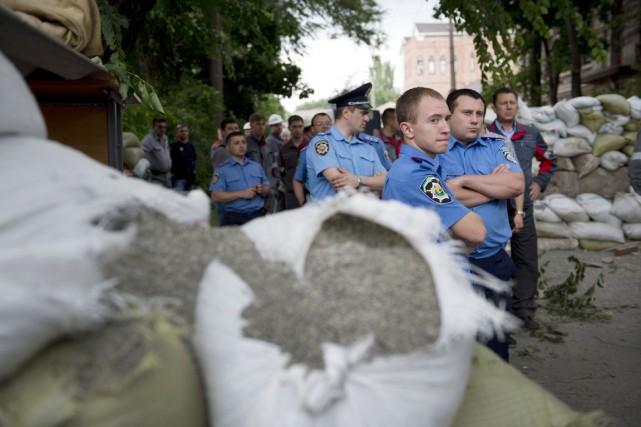 Le ministre ukrainien de l'Intérieur Arsen Avakov a... (PHOTO DANIEL MIHAILESCU, ARCHIVES AFP)