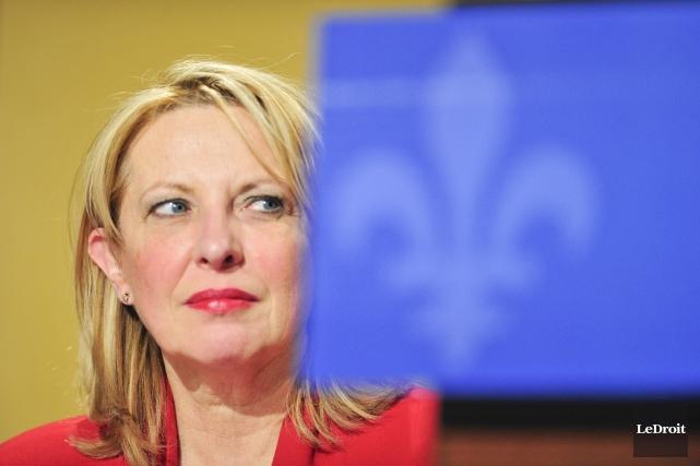 Christine St-Pierre, s'est questionnée ouvertement, et ce à... (Photo Martin Roy, archives Le Droit)