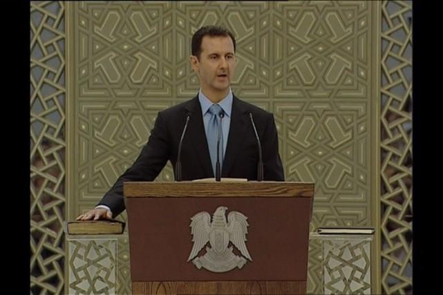 «Syriens, des années ont passé depuis que certains... (PHOTO REUTERS TV)