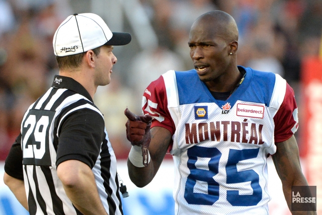 Chad Johnson en avait visiblement long à dire... (Photo Bernard Brault, La Presse)