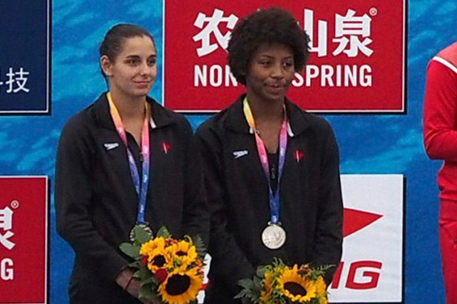 Pamela Ware et Jennifer Abel ont remporté neuf... (Photo Reuters)