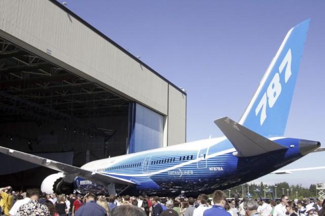 Le Dreamliner787 de Boeing, l'avion de nouvelle génération... (Photo archives AFP)