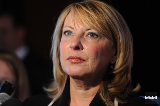 La ministre Christine St-Pierre... (Photothèque Le Soleil, Erick Labbé)
