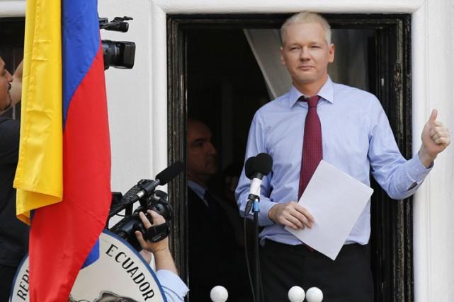 Depuis juin 2012, M. Assange s'est réfugié à... (Photo: Reuters)