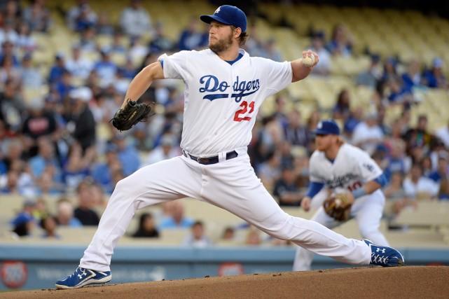 L'as lanceur des Dodgers de Los Angeles, Clayton... (Photo Richard Mackson, USA Today)