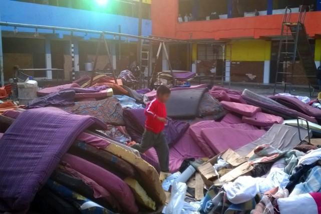 La police a effectué un raid dans ce... (Photo: AFP)