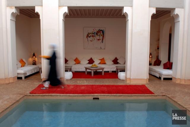 Les maisons traditionnelles arabes s'organisent autour d'un patio,... (Photo Bernard Brault, La Presse)