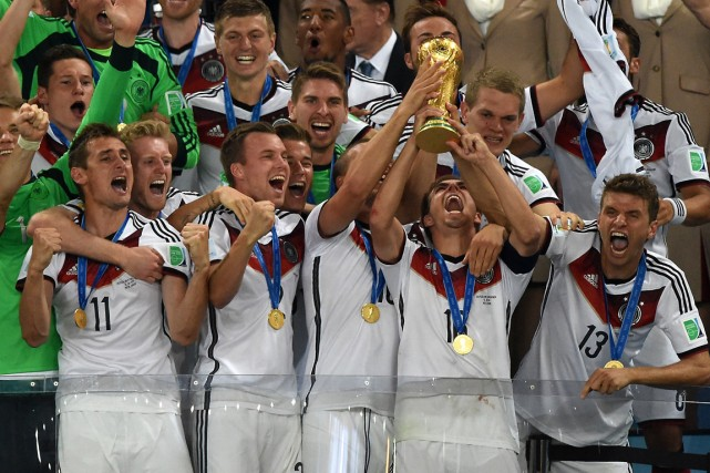 L'Allemagne a remporté la quatrième Coupe du monde... (Photo Pedro Ugarte, AFP)