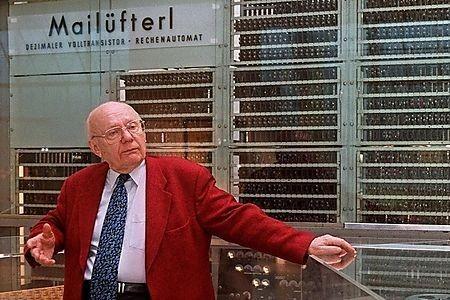 HeinzZemanek était le créateur du «Mailüfterl», premier ordinateur... (Photo Archives Université de Vienne)