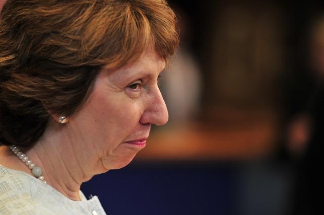 La chef de la diplomatie européenne, Catherine Ashton,... (Photo archives AFP)
