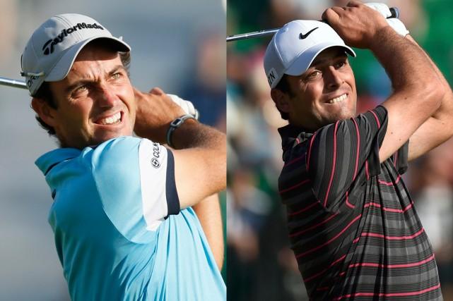 Les frères italiens Edoardo et Francesco Molinari ont... (Photos AP et Reuters)