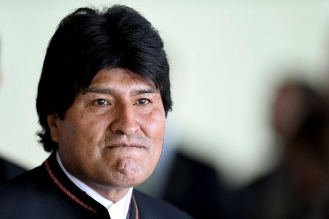Le président Evo Morales a lui-même été contraint... (Photo Evaristo SA, archives AFP)