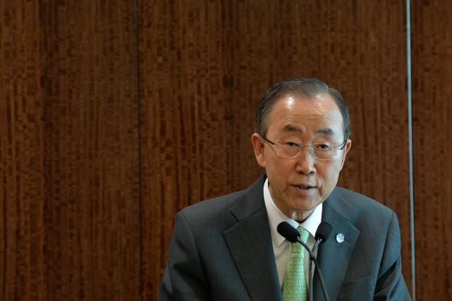 Le secrétaire général de l'ONUBan Ki-moon... (Photo Stan HONDA, AFP)