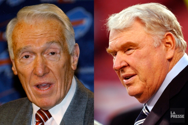 Marv Levy, à gauche, et John Madden.... (Photomontage La Presse - Photos Peter Hartlaub, archives San Francisco Chronicle et Gary Wiepert, archives Reuters)