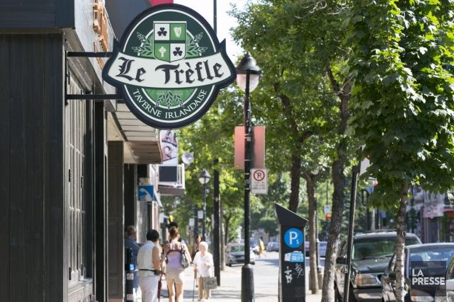 La taverne irlandaise Le Trèfle ouvrira bientôt ses... (Photo François Roy, La Presse)