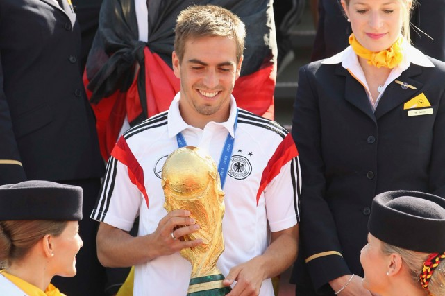 Le capitaine de l'équipe d'Allemagne, Philipp Lahm.... (Photo Reuters)