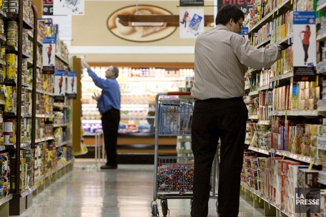 Les prix des aliments ont augmenté de 2,9... (Photo Martin Tremblay, archives La Presse)