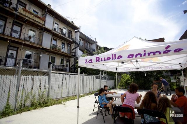La Ruelle animée du Dr Julien offre des... (Photo Sarah Mongeau-Birkette, La Presse)