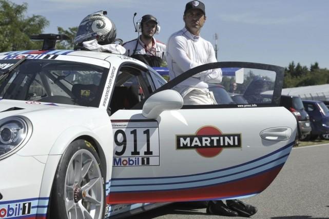 Patrick Dempsey et sa Porsche 911.... (Photo: AFP)