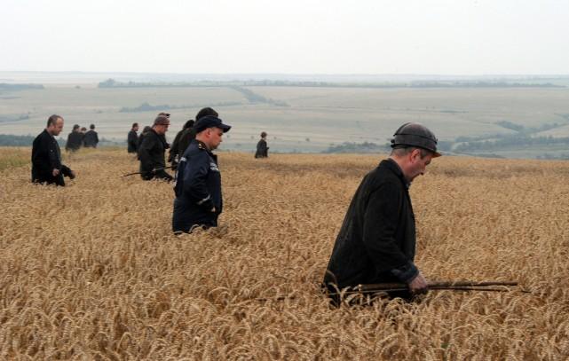Un groupe de mineurs ukrainiens a effectué des... (Photo Dominique Faget, Agence France-Presse)