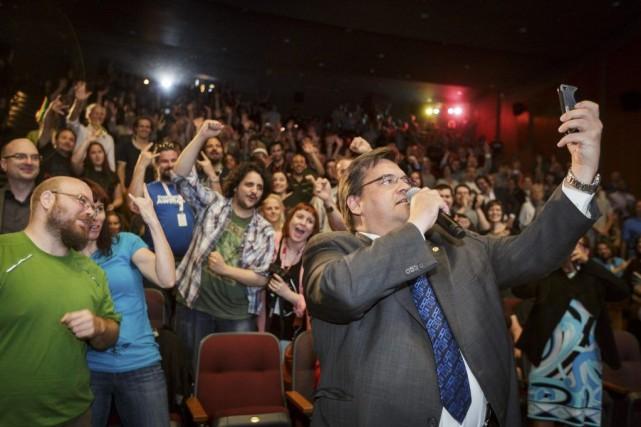 Le maire de Montréal Denis Coderre s'est amusé... (Photo Ulysse Lemerise, collaboration spéciale)