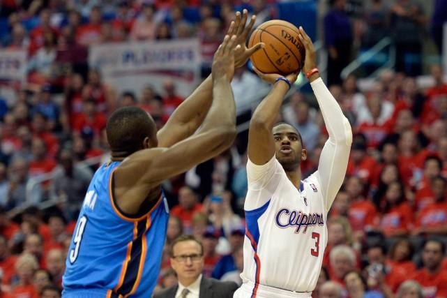 Chris Pauldes Clippers de Los Angeles, à droite.... (Photo Richard Mackson, archives USA TODAY Sports)