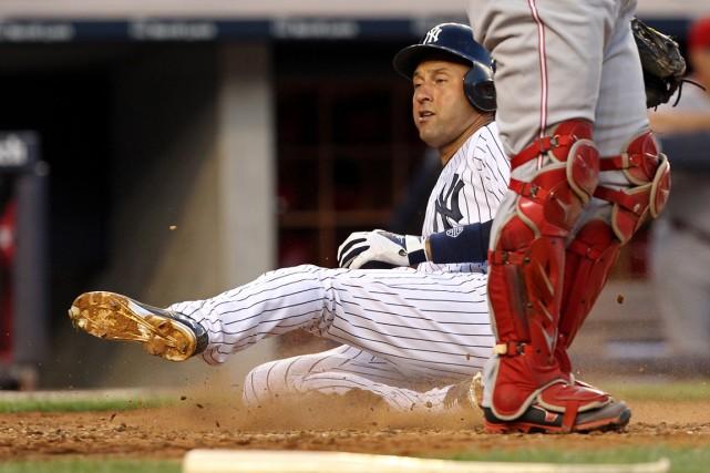Derek Jeterdes Yankees de New York... (Photo Adam Hunger, USA TODAY Sports)