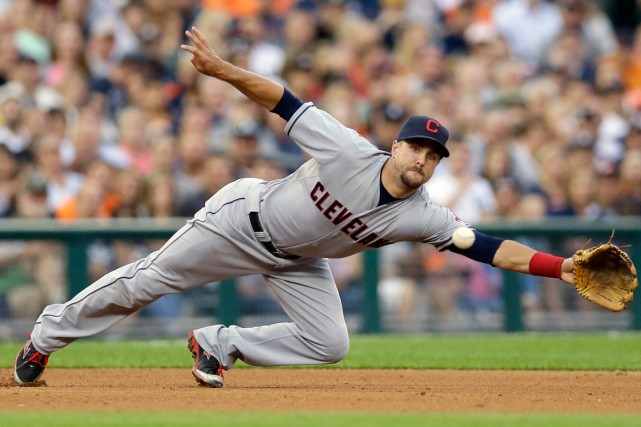 Lonnie Chisenhall des Indians de Cleveland... (Photo Carlos Osorio, Associated Press)