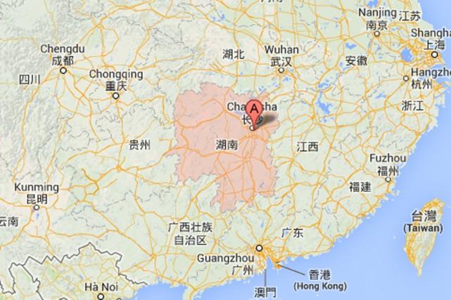 La province du Hunan.... (PHOTO TIRÉE DE GOOGLE MAPS)