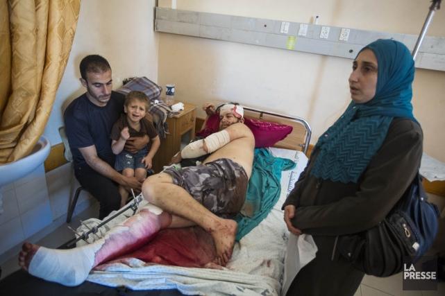 Wajdi Kemal Moussa Abou Tawila a été blessé... (PHOTO OLIVIER PONTBRIAND, LA PRESSE)