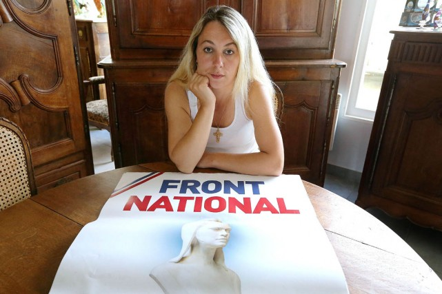 En octobre dernier, Anne-Sophie Leclère, candidate du Front... (PHOTO FRANÇOIS NASCIMBENI, AFP)