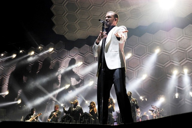Justin Timberlake lors du The 20/20 Experience World... (PHOTO INVISION/ASSOCIATED PRESS)