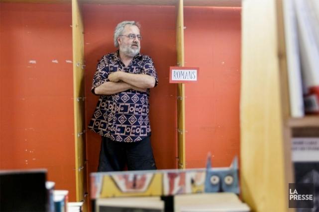 Roger Chénier, propriétaire de la librairie L'Écume des... (PHOTO ULYSSE LEMERISE, COLLABORATION SPÉCIALE)