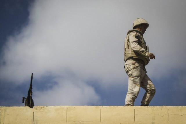 Il s'agit d'une des attaques les plus importantes... (PHOTO MOHAMED EL-SHAHED, AFP)