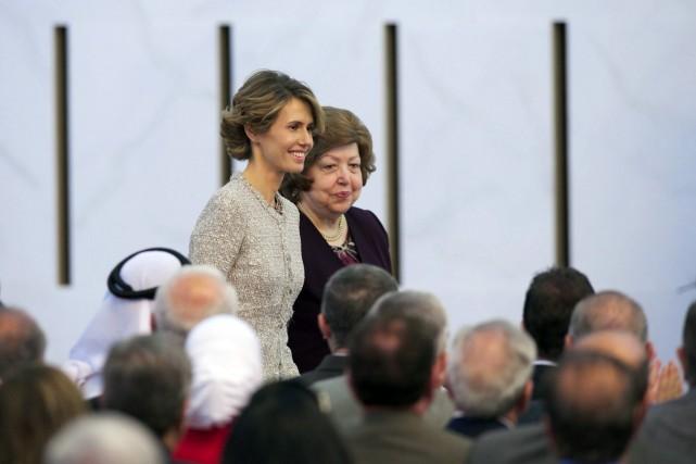 La vice-présidente syrienne Najah al-Attar... (Photo AFP)