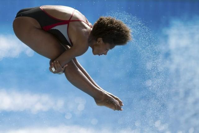 Jennifer Abel a pris le troisième rang de... (PHOTO JOHANNES EISELE, AFP)