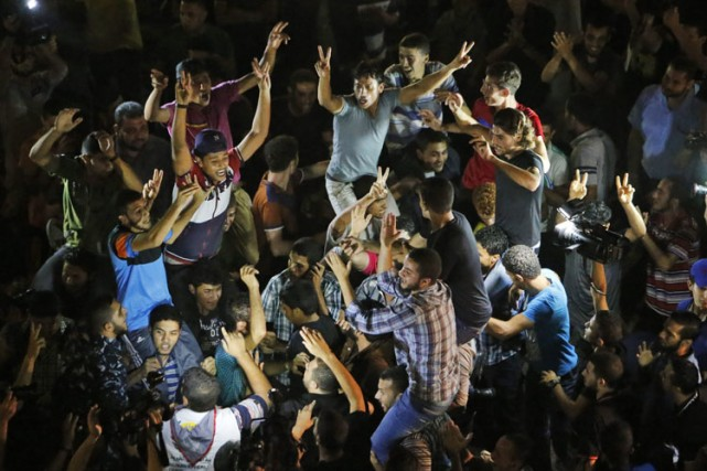 L'enlèvement a déclenché des manifestations de joie dans... (Photo: AP)