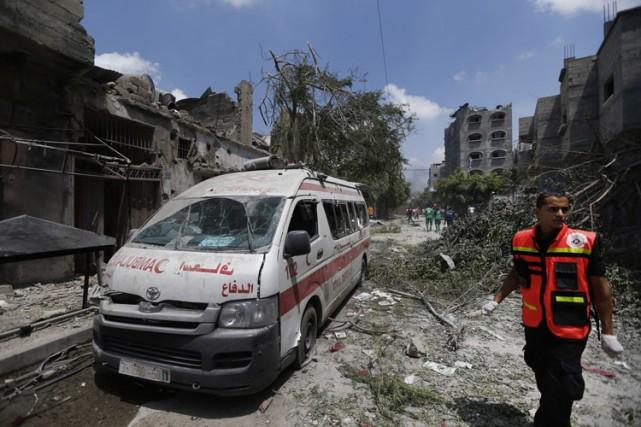 Plus de 100 Palestiniens ont été tués à... (Photo: AP)