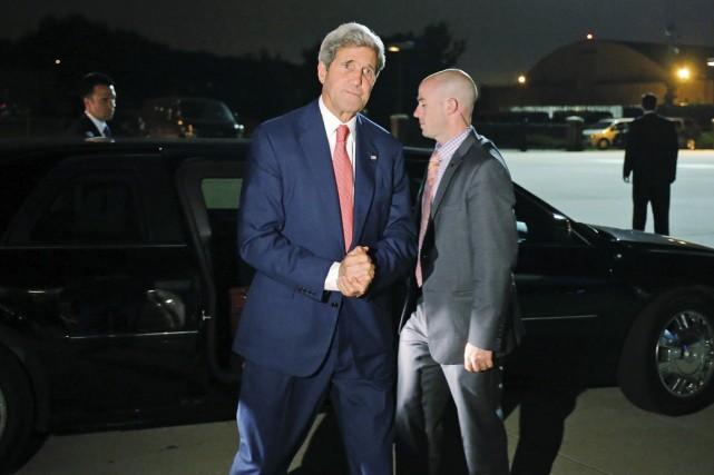 Le chef de la diplomatie américaine John Kerry... (PHOTO CHARLES DHARAPAK, AP)