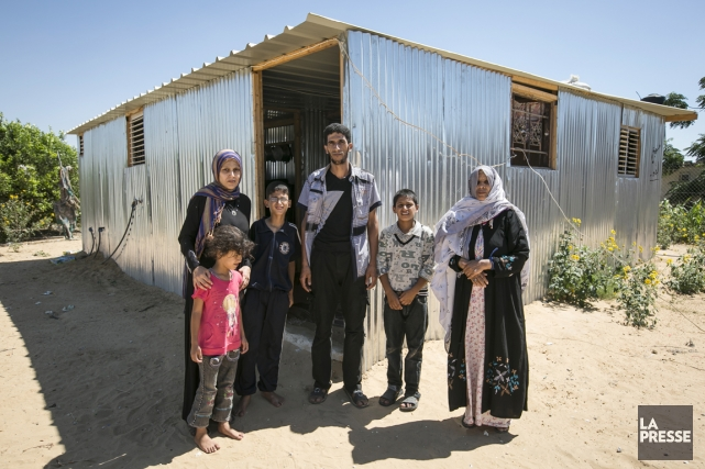 La famille Sabri Bahri habite à Rafah, qui,... (PHOTO OLIVIER PONTBRIAND, LA PRESSE)