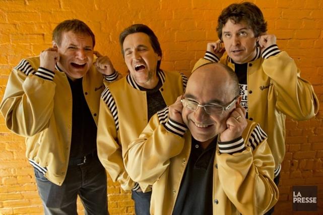Bruno Landry, Guy A. Lepage, André Ducharme et... (Photo: David Boily, La Presse)