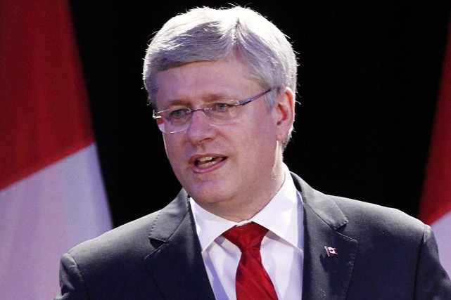 Le premier ministre Stephen Harper a mentionné l'écrasement... (Photo d'archives, Reuters)