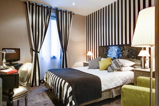 Une chambre àl'hôtel Tour D'Auvergne,un des cinq établissements... (Photo tirée du site de l'hôtel Tour d'Auvergne)