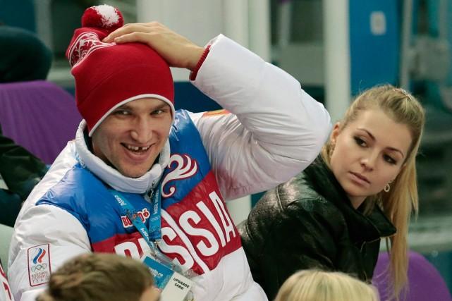 Alexander Ovechkin et Maria Kirilenko... (Photo Ivan Sekretarev, archives AP)