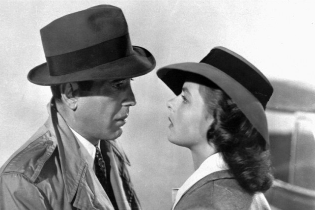Humphrey Bogart etIngrid Bergman dans une scène deCasablanca.... (Archives AP)