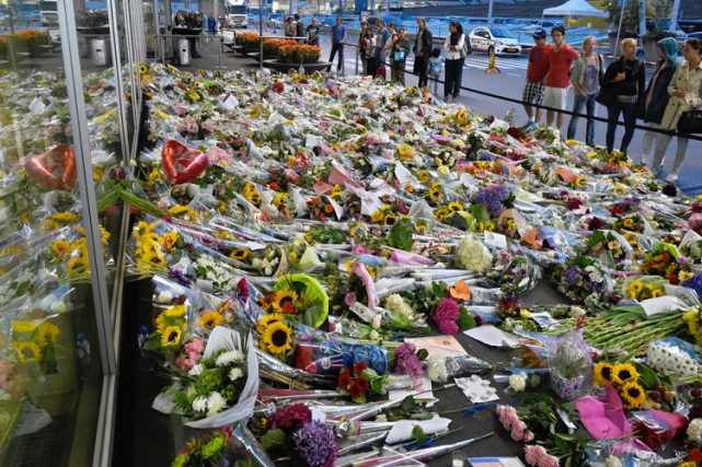 Un mémorial en hommage aux victimes de l'écrasement... (Photo: AFP)
