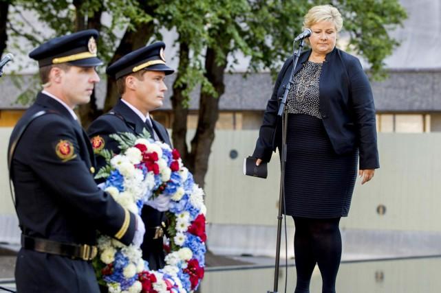La première ministre conservateur Erna Solberg a déposé... (PHOTO VEGARD GROTT, REUTERS)
