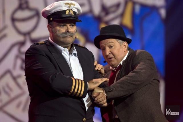 Sous les traits du Capitaine Bonhomme et d'Olivier... (Photo: Olivier Jean, La Presse)