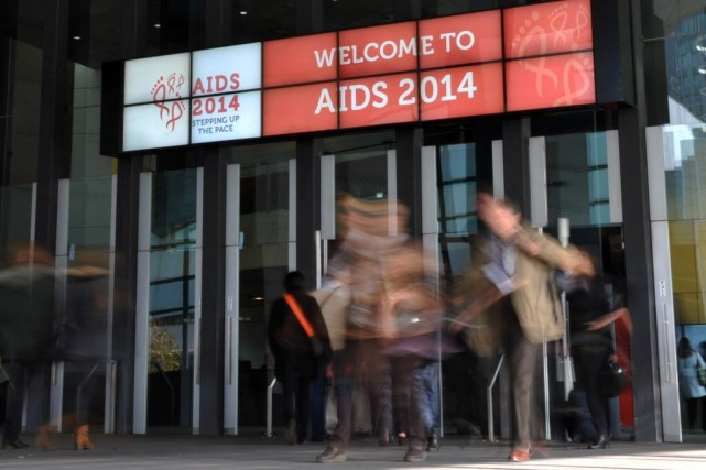 La conférence internationale sur le sida organisée par... (PHOTO ESTHER LIM, AFP)