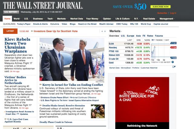 LeWall Street Journal arévélé cette intrusion informatique après... (Image tirée du site web)
